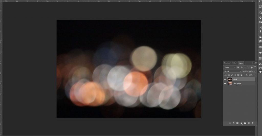 bokeh tutorial photoshop screenshot