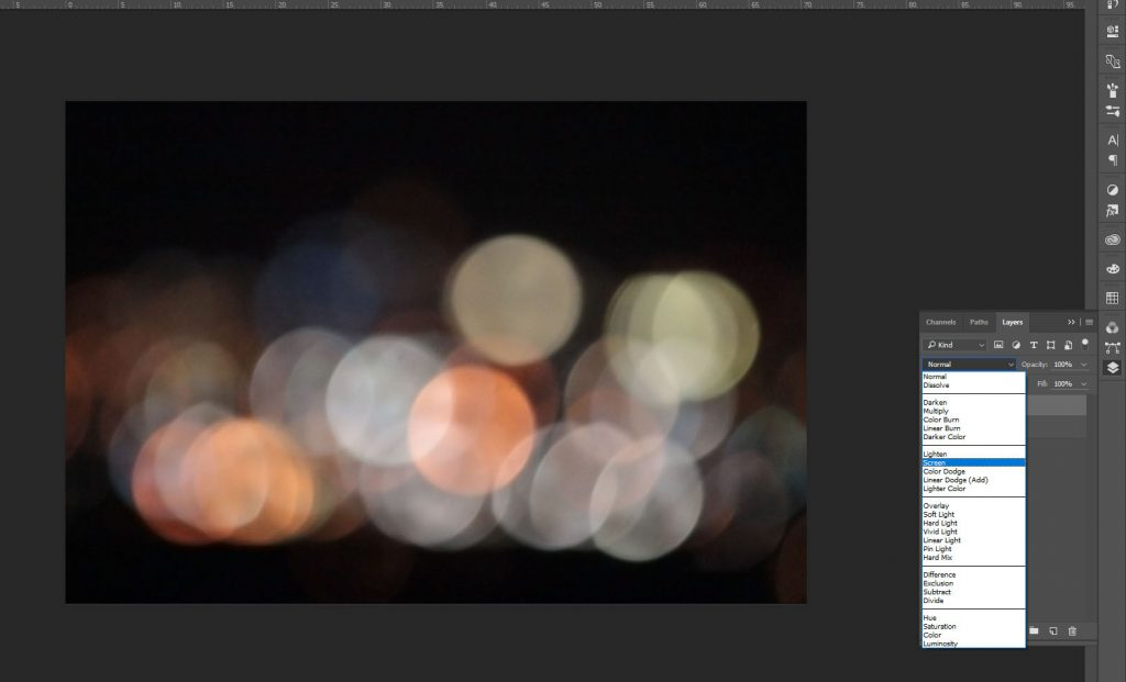bokeh photoshop blending mode